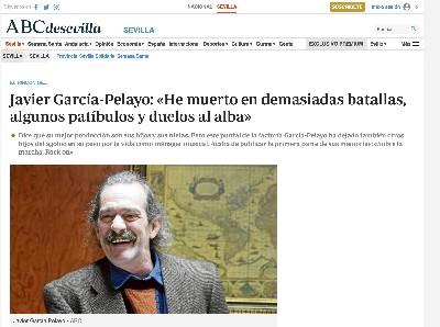 JAVIER GACIA PELAYO EN ABC SEVILLA
