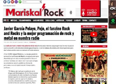 Mariskal Rock Javier Gracia-Pelayo Serie Gong en prensa.